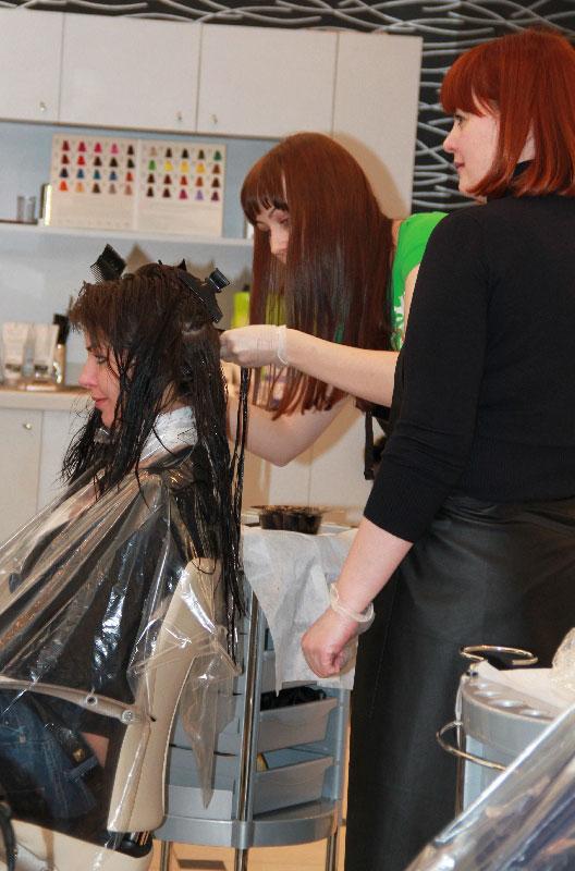 Фото с семинара-презентации по новой краске для волос «Маникюр для волос»