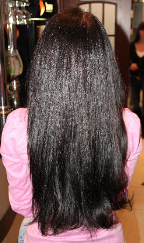 Ламинирование волос, фотографии после